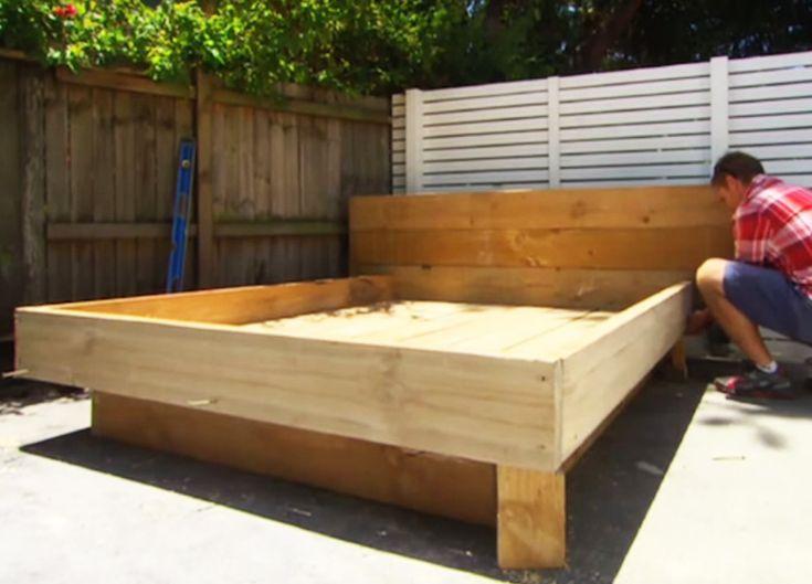 25 best ideas about bett aus paletten auf pinterest for Gartengestaltung trampolin