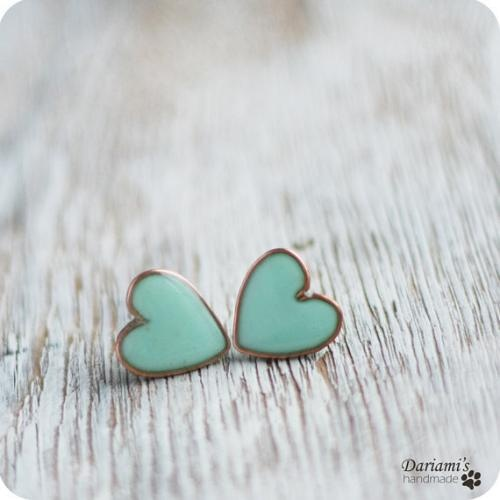 Mint Green Hearts