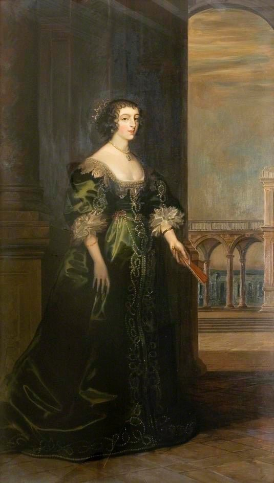 Queen Henrietta Maria after Daniel Mytens the Elder (Saffron Walden Town Council - Dorchester, Dorset UK) | Grand Ladies | gogm