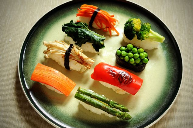 Vegetarian Sushi | Ideas for my vegan hubby | Pinterest
