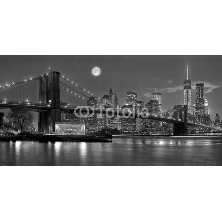 Obraz na płótnie - Brooklyn bridge New York - dostępny w rozmiarze 120x60 cm , w kolorze, sepii i odcieniach szarości #fedkolor #wnętrza #ozdoby #dekoracje #obraz #na #płótnie #ze #zdjęcia #obrazzezdjęcia #obraznapłótnie #Brooklyn #most #bridge #miasto #miejskie #NowyJork #NewYork #architektura #miasto