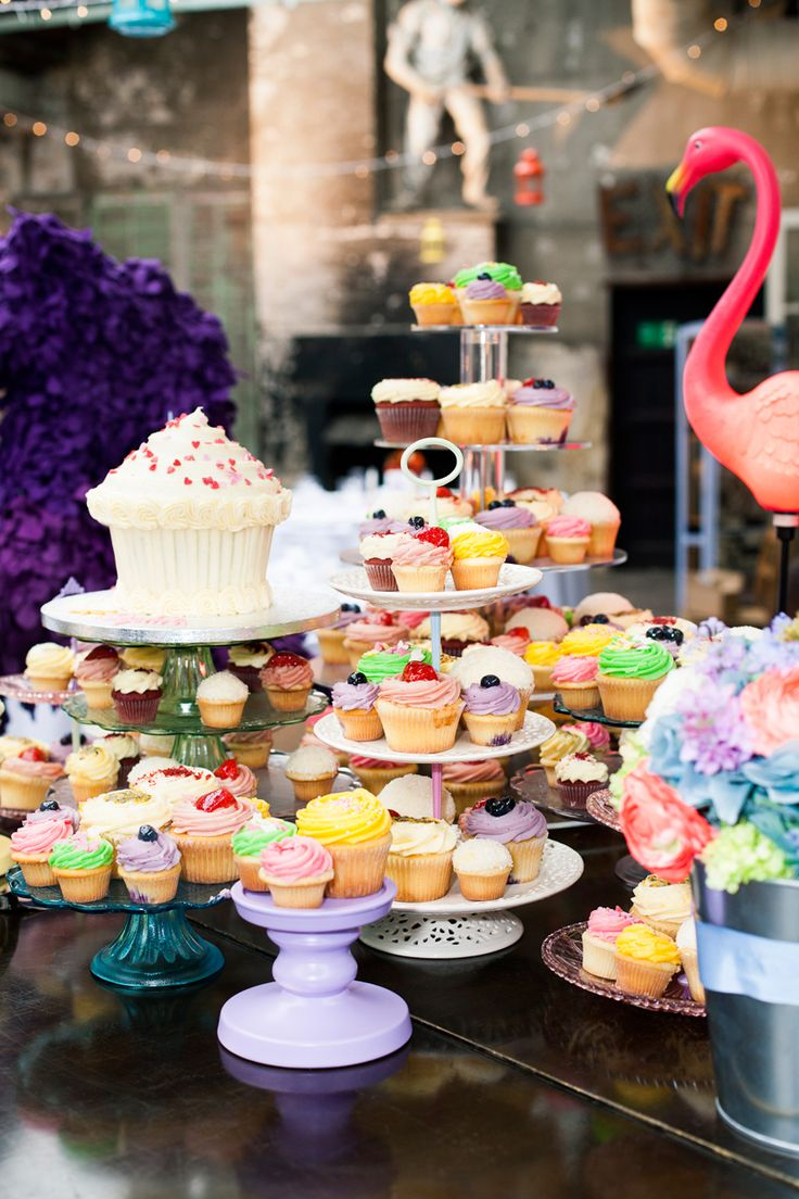 I definitely have a bit of a sweet tooth and knew I wanted various treats for the guests!  I had a pick-and-mix stand created with a large choice of all my faves—as well as numerous types of cupcakes from my favorite shop, Lola's cupcakes—they're a big hit in the SW studio!