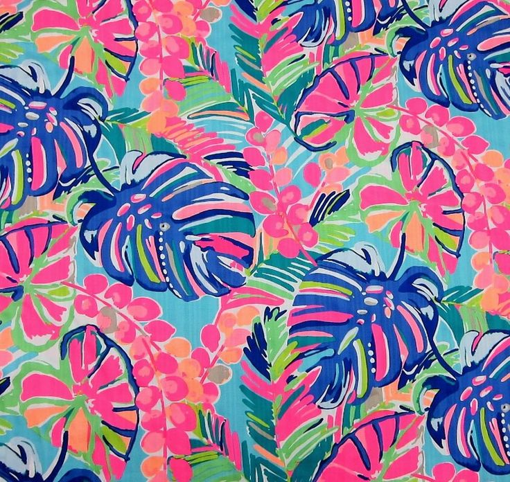 Multi Exotic Garden Lilly Pulitzer Cotton Dobby Fabric 1 yard BTY #LillyPulitzer