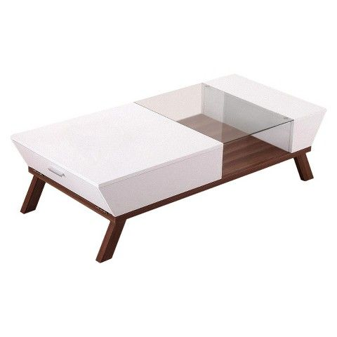 enitia lab rectangular coffee table white homes inside out - Coffee Tables Target