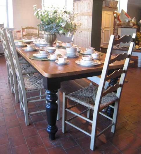 FARMHOUSE TABLE: Friends And Family Will All Fit Around This Beautiful 8ft. Farmhouse  Table With Reclaimed Barnwood Top. The French Country Farm Table Comes ...