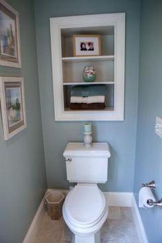 Image result for recessed shelves above toilet   – Guest Bathroom – #bathroom #G…   – Shelvess