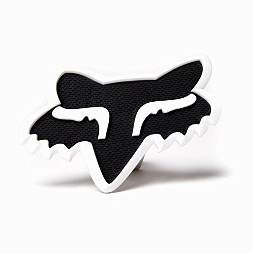 Fox Racing Mens Trailer Hitch Cover Accessories - Black/White No Size  2 inch Fox Head  Fits standard 2 inch receiver  Material Composition: PU (Polyurethane) 92.2%, PVC 7.8%  Does not come with Hitch pins