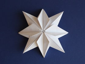 How About Orange: Origami paper stars for garlands or gifts