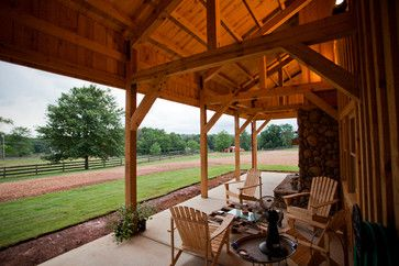 OUTDOOR ROOM – Absolutely beautiful outdoor living. Georgia Barn Home traditional patio other metro Sand Creek Post & Beam