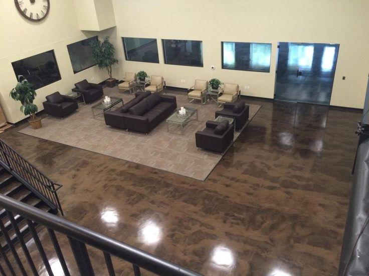 Metallic Epoxy Marble Stained Office Lobby In Burlington Kentucky Decorativeconcretekingdom