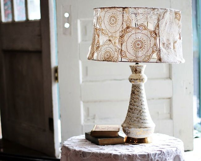 53 best lamp shade frames the many uses images on pinterest 4 creative ways to do a lampshade makeover greentooth Images