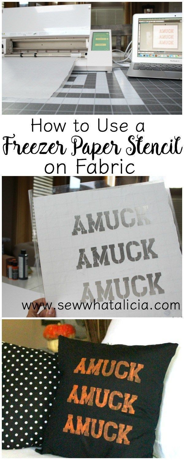 How to Use a Freezer Paper Stencil on Fabric: If you want to customize all your stuff with a stencil but are kind of hesitant about using it on fabric then this is for you! Click through for tips and tricks to creating and using a freezer paper stencil on