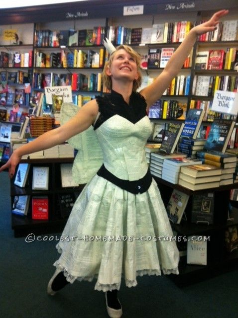 Pretty Paper Dress for a Book Fairy Costume… Coolest Halloween Costume Contest