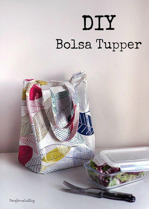 DIY: Bolsa para el tupper | Bolsos | Costura, Patrones y Costura bolsos