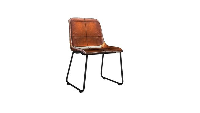 Large preview of 3d model of kare 77476 chair vintage for Barhocker 3d model