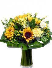 kytice se slunečnic - květiny online Praha