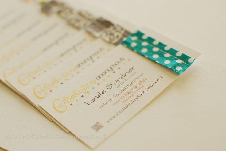 craft blog business cards