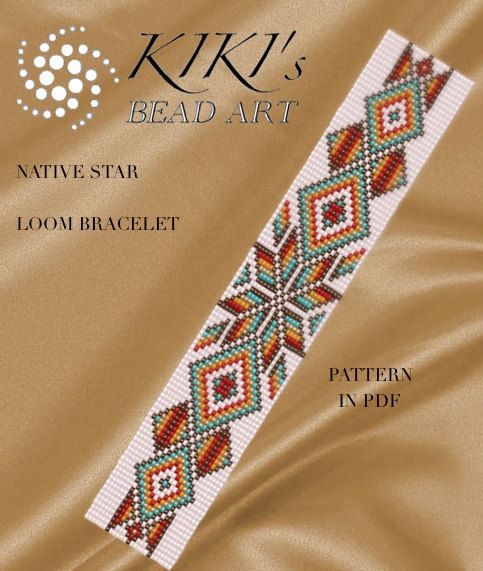 Bead loom pattern - Native star - LOOM bracelet pattern in PDF - instant download