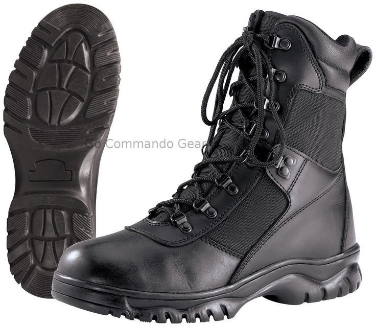 "Forced Entry 8"" Black Waterproof Tactical Boot - Military SWAT Police Footwear"