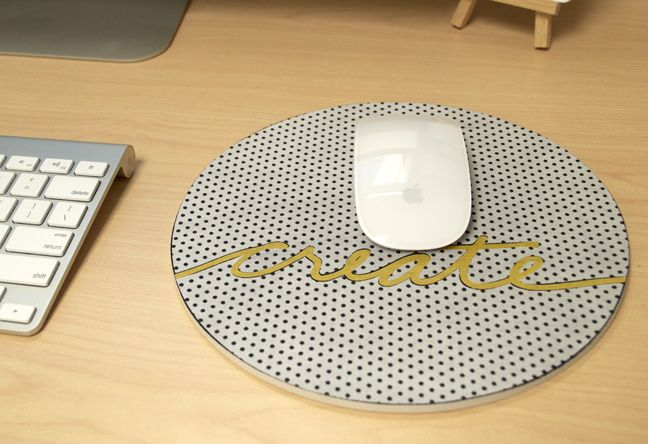Silhouette Blog: Mouse Pad Makeover