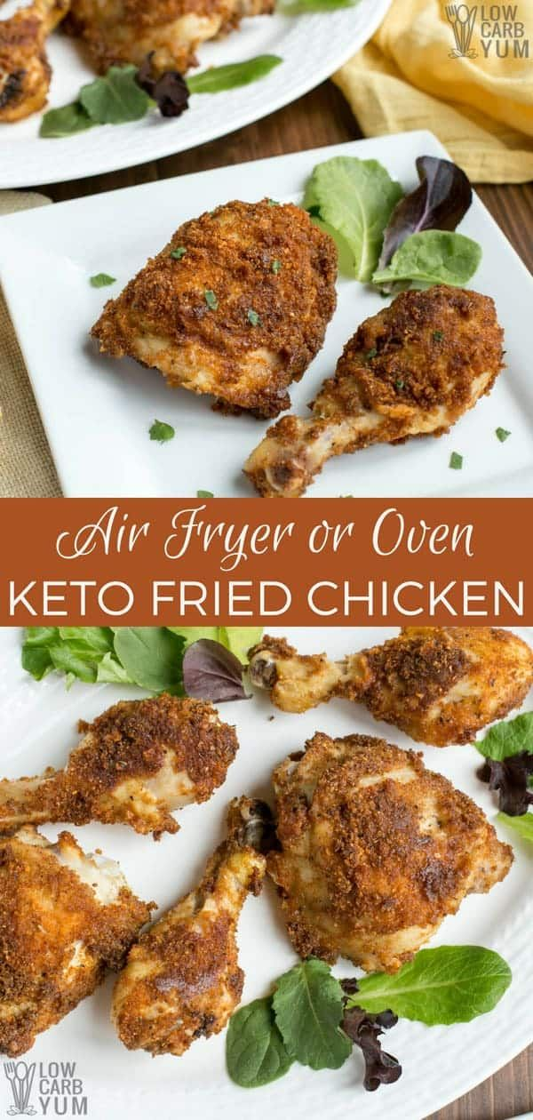It S Easy To Make Low Carb Keto Fried Chicken In An Air Fryer But