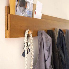 Wall Coat RackIdeas, Coats Racks, Wall Coats, Mud Room, Entrance Hall, Small Spaces, Coat Racks, Hallways Storage, Entry Storage