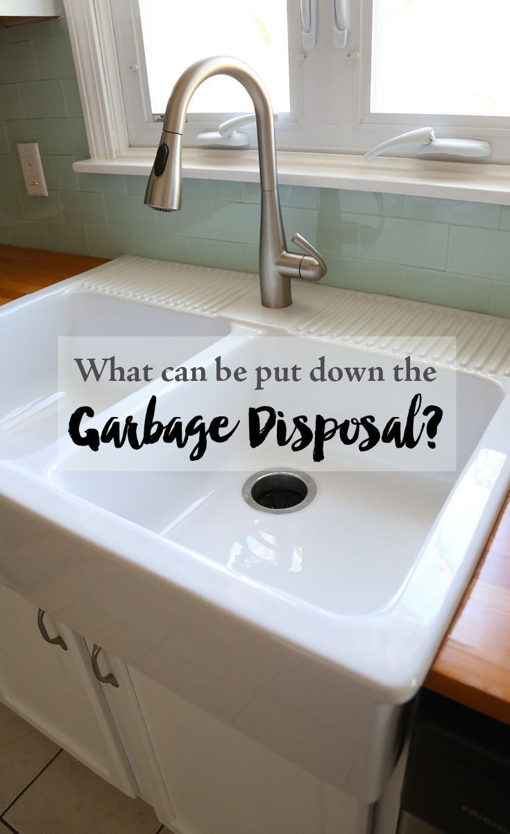 What can be put down the garbage disposal? What can't be put down the garbage disposal. Including a free printable garbage disposal cheat sheet.