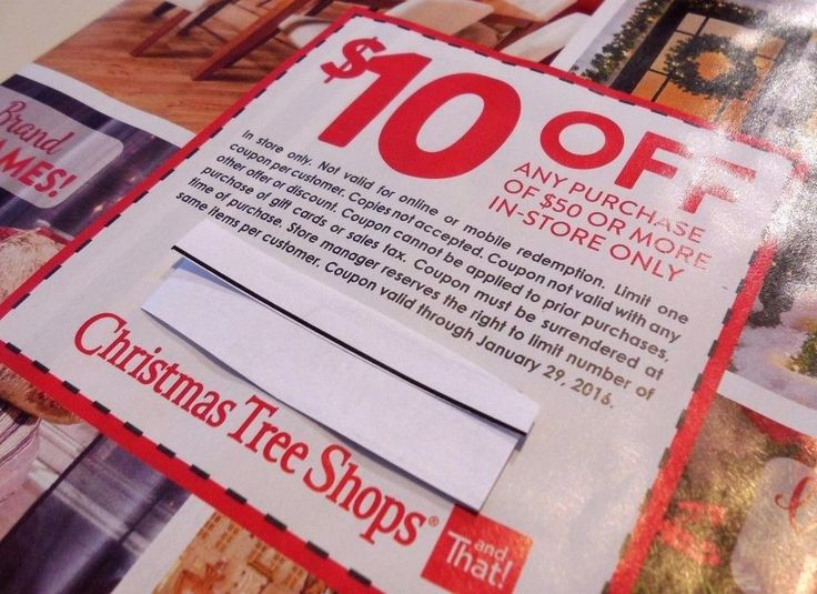 christmas tree shops coupon 10 off any purchase of 50 or more in store only - Christmas Tree Store Coupon