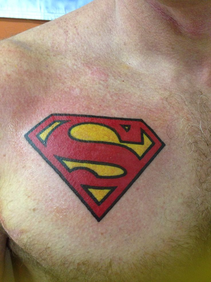 New Superman tattoo by Dusty Miller