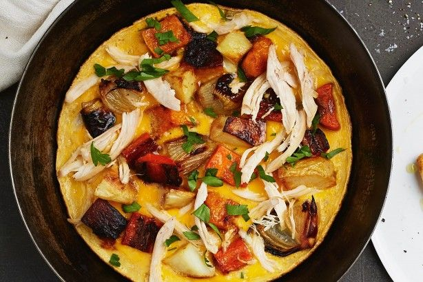 Use up your leftovers with this speedy frittata.