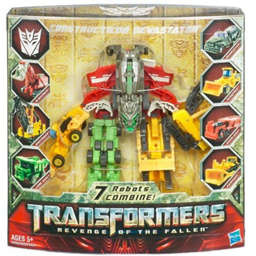 Amazon.com: Transformers 2 Revenge of the Fallen Movie Exclusive Action Figure Constructicon Devastator 7 Robots Combine: Toys & Games