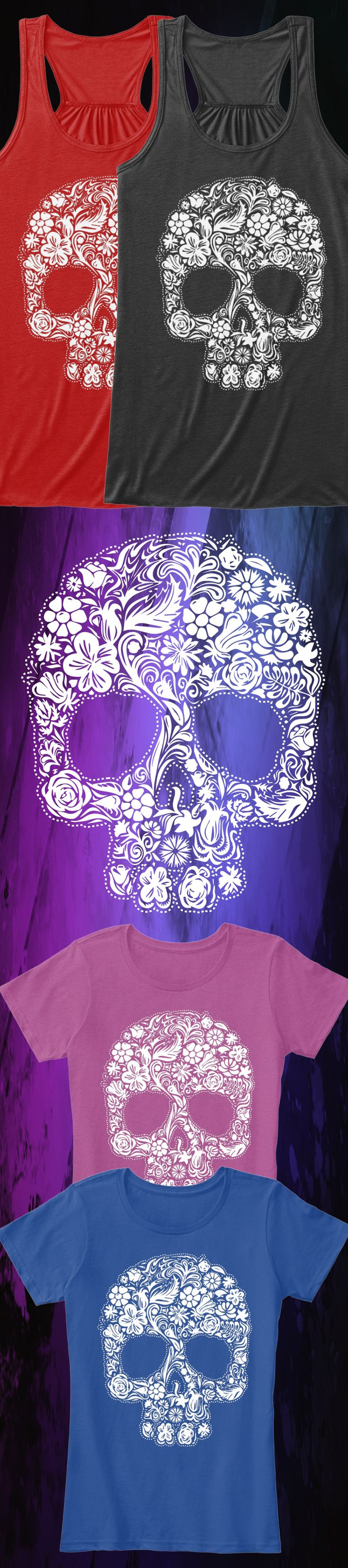 Do you love skull art?! Check out this awesome Shugar Skull t-shirt you will not find anywhere else. Not sold in stores and only 2 days left for free shipping! Grab yours or gift it to a friend, you will both love it 😘