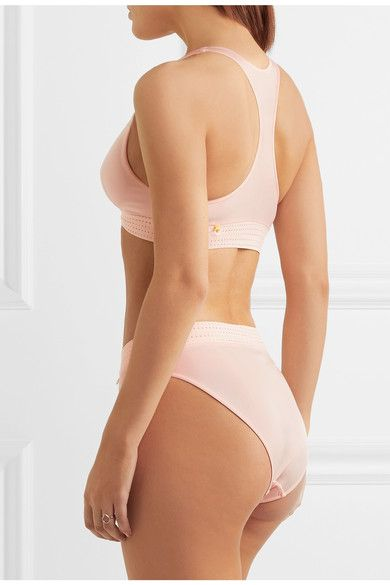 Elle Macpherson Body - The Body Perforated Stretch-jersey Soft-cup Bra - Pastel pink - medium