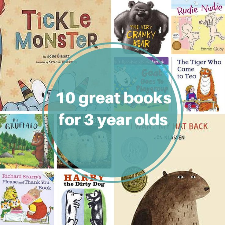 10 great books for 3 year olds. What's your favourite?