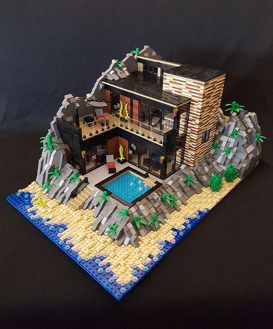 Die besten 25 minecraft strandhaus ideen auf pinterest for Lego modernes haus