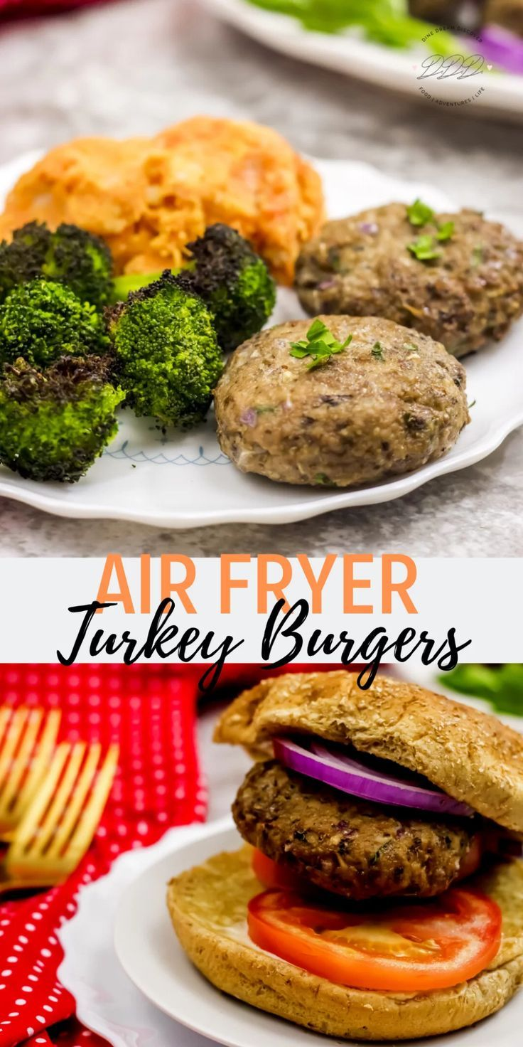 Air Fryer Turkey and Mushroom Patties Recipe in 2020