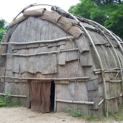 Bark House from the native americans