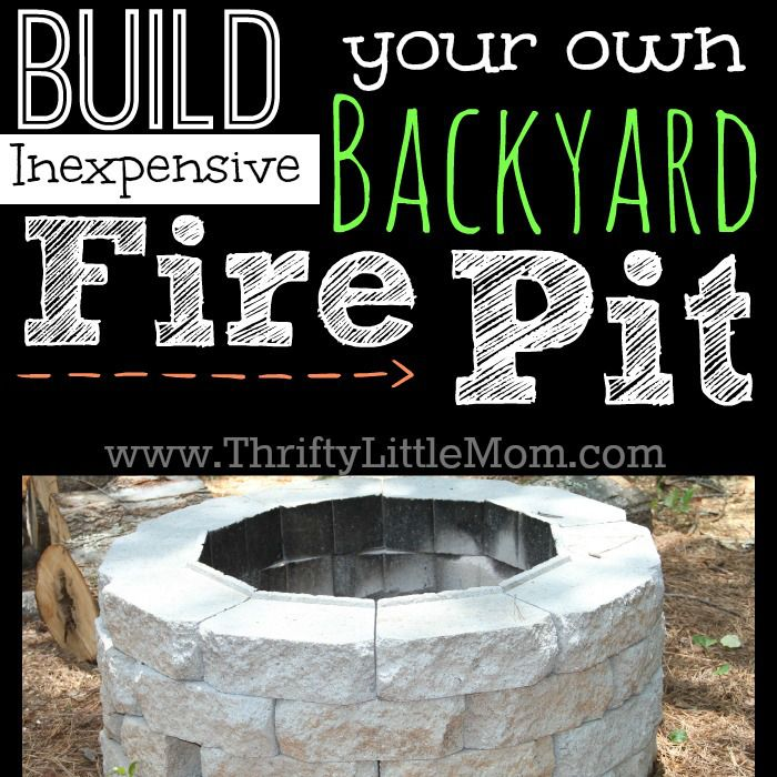 Build your own inexpensive backyard fire pit using retaining wall bricks and a chisel. I think I could do this if it ends up cheaper.