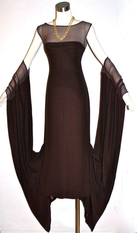 vintage jean paul gaultier femme dress brown sheer. Black Bedroom Furniture Sets. Home Design Ideas