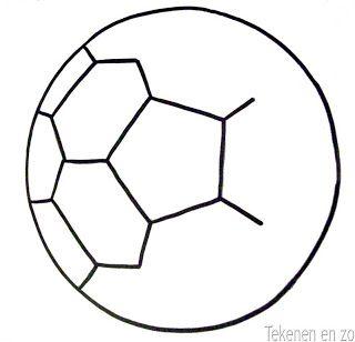 Tekenen en zo: De mooiste voetbal! Template afmaken en dan inkleuren.