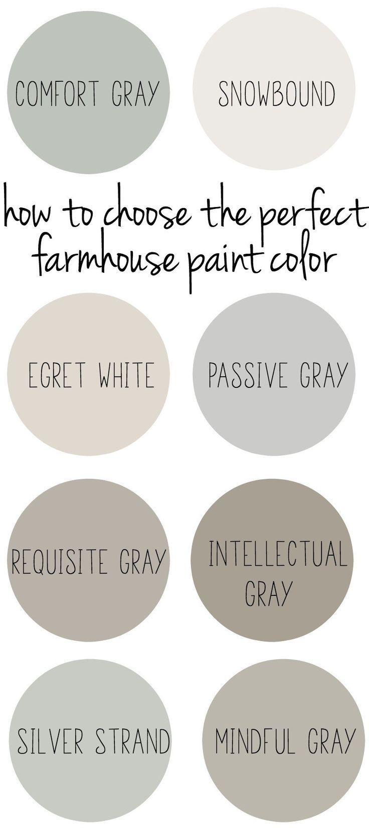 How to choose the perfect farmhouse style paint color. - http://home-painting.info/how-to-choose-the-perfect-farmhouse-style-paint-color/