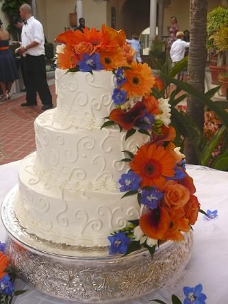 blue and orange wedding cake ideas 49 best images about fall wedding cakes on 11949