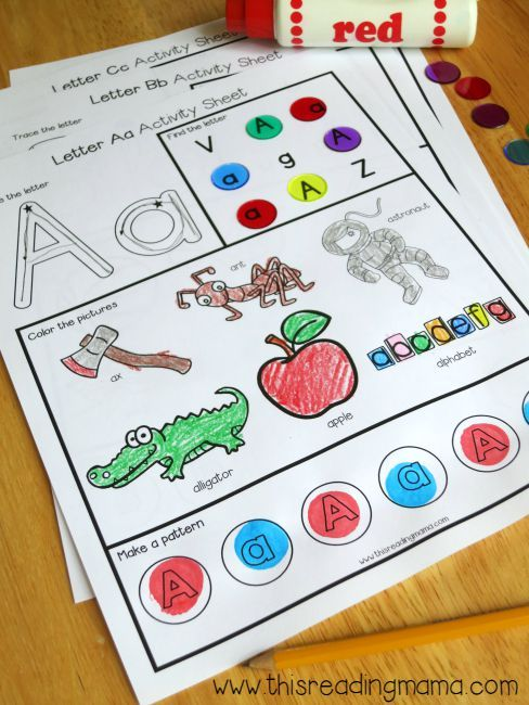 Free Letter a Worksheet Example from Alphabet Worksheets Pack | This Reading Mama