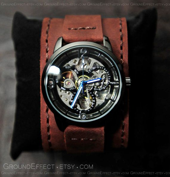 Mens Steampunk Watch Automatic Watch Groomsmen by GroundEffect