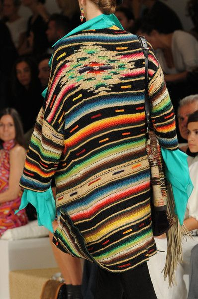 Ralph Lauren Spring 2013  design from an old Saltillo Serape!!
