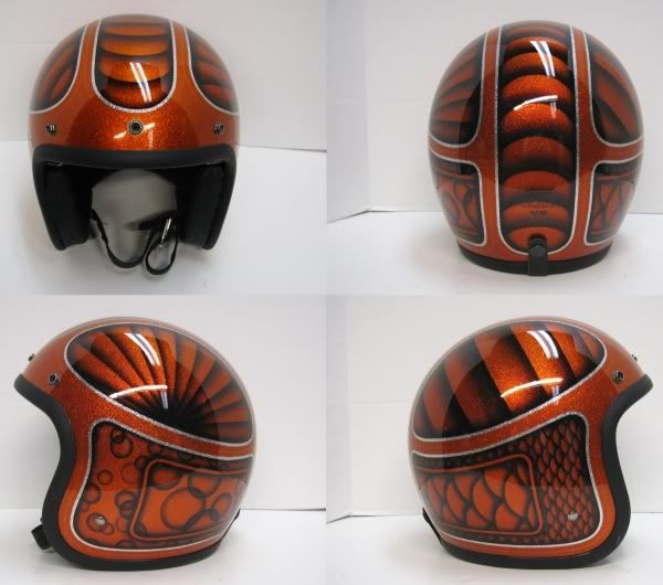 Flake And Candy Painted Helmets Old School Helmets