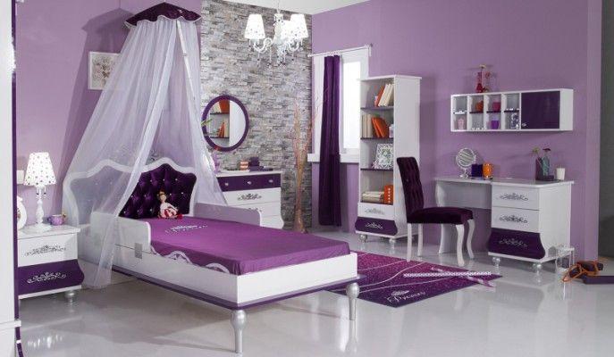 Εφηβικό Δωμάτιο Princess Μοβ