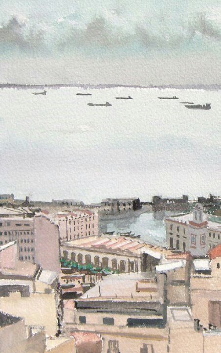 Le port d'Alger. Gilles Chambon