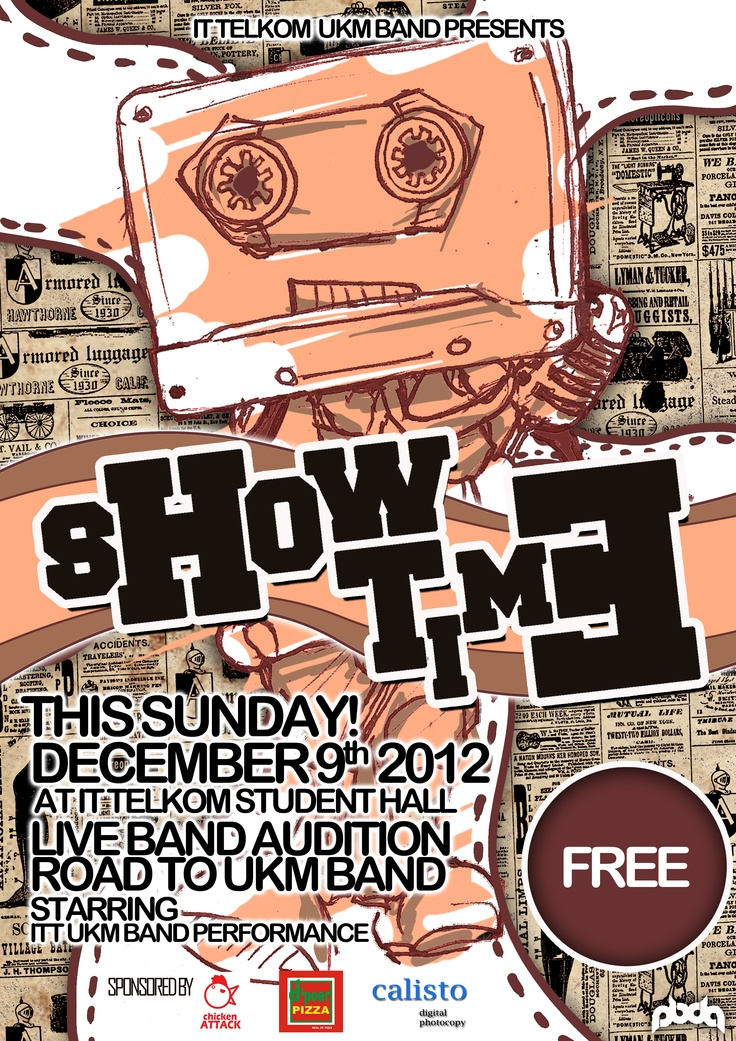 UKM BAND SHOW TIME 2012 poster
