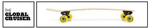 "The Global Cruiser By Stella Longboards. Construction: 2 Plys Bamboo / 4 Plys Canadian Maple. Concave: Camber - Size: 34"" x 8"". Wheelbase: 21.125"" - Trucks: Stella Inverted 180's. Wheels: New Stella Spankers 65mm 83A. Griptape: Stella Coarse Clear."
